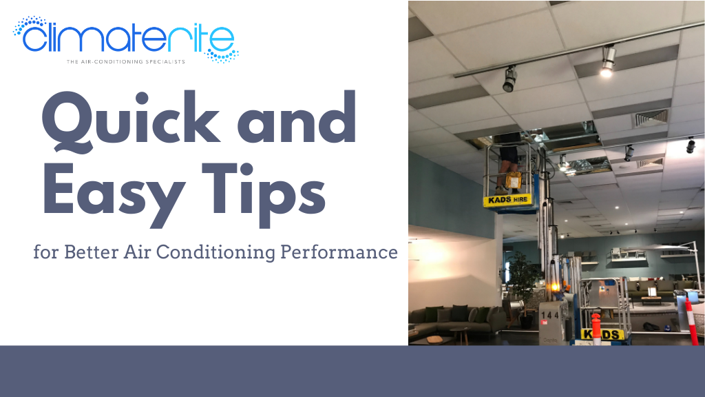 Quick and Easy Tips for Better Air Conditioning Performance